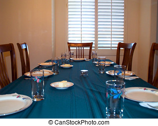 The Dinner Table - A dinner table set up and ready for...
