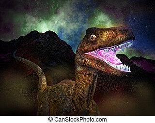 Dinosaur's doomsday - The Dinosaur's doomsday at night