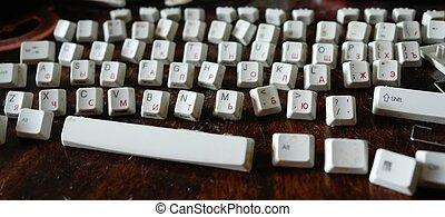 disassembled keyboard - The disassembled keyboard. I wished...