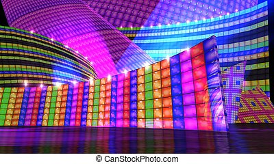 The disco stage set e - The disco stage background for...