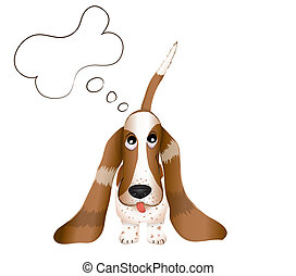 the dog Basset Hound vector illustration eps 10