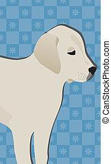 The dog. White retriever puppy
