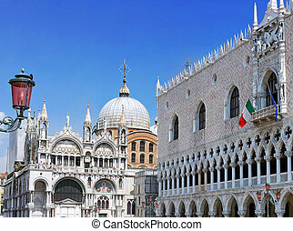 The Doge's Palace ,Cathedral of San Marco, Venice - The...