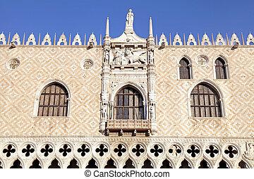 The Doge's Palace (Italian Palazzo Ducale), Venice, Italy.