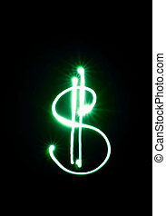 The dollar symbols from the lights