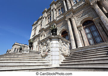 The Dolmabahce Palace in Istanbul, Turkey