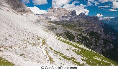 The Dolomites, Italy - Dolomites Alps in Italy. Timelapse