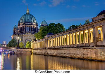 The Dom in Berlin at night