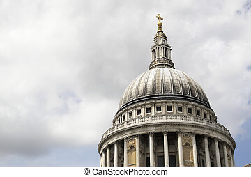 the dome of st paul's cathedral from cannon street london england uk taken in july 2007