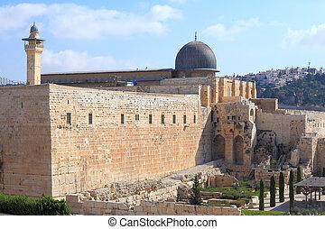 The dome of the Al-Aqsa Mosque