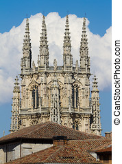 The Dome of The East Face of Burgos Cathedral. Spain