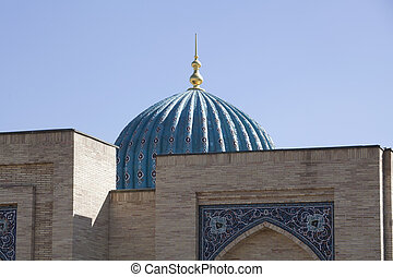 The dome of the Mosque in Uzbekistan