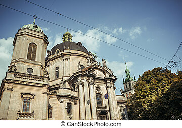 The Dominican church and monastery in Lviv, Ukraine