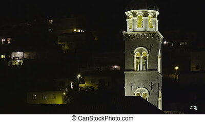 The Dominican Monastery with bell tower in Dubrovnik,...