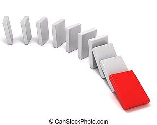 3D rendering of domino pieces