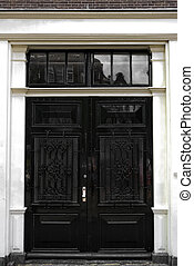 The door and Amsterdam in typical Dutch style