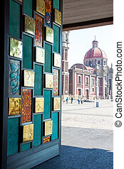 The door of new Basilica of Our Mary of Guadalupe, Mexico...