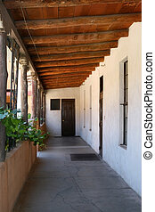 The Door - Walkway around the ancient courtyard of the...