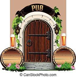 The door to the pub