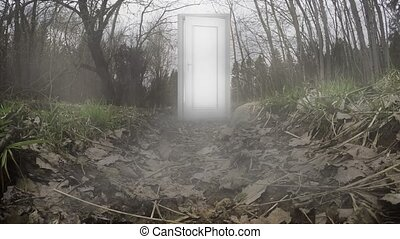 The door with riddles and fairy tales.