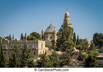 The Dormition Abbey in Jerusalem, Israel