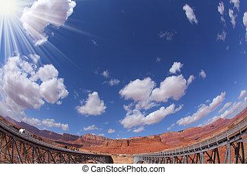 The double Navajo Bridge