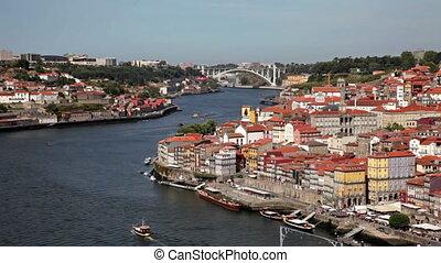 The Douro river in Porto, Portugal - Porto, Portugal -...