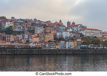 The Douro River through the Portuguese city of Porto.
