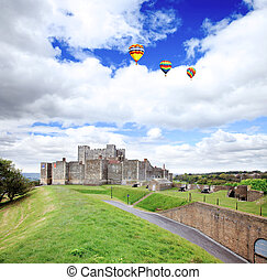 The Dover Castle in south east England