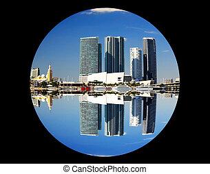 The downtown Miami Florida