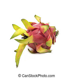 The dragon fruit isolated on white background.