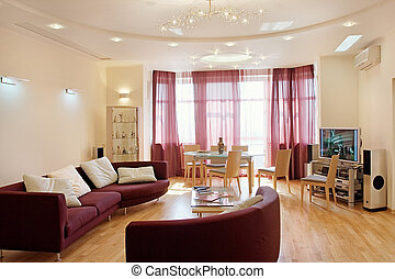 The drawing-room in modern style