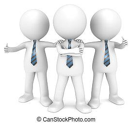 The Dream Team. - 3D little human character the Business Man...