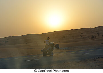 The Dubai desert trip in off-road car