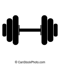 The dumbell black color icon. - The dumbell it is black...