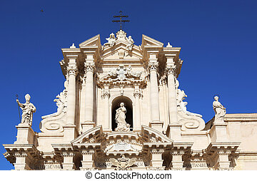Cathedral of Syracuse - the Duomo, Cathedral of Syracuse in...