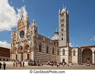 The Duomo of Siena, is one of the prettiest churches in...