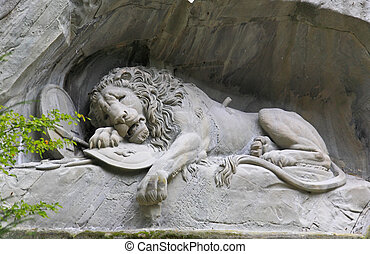 The dying lion monument in Luzern Switzerland