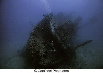 The Eagle shipwreck in Key largo, Florida