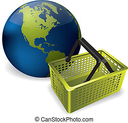 The Earth and a shopping basket