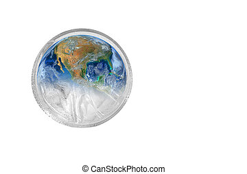 the earth in water grass ,including elements furnished by NASA
