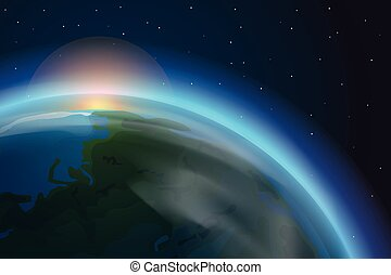 The Earth vector illustration