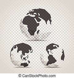 The Earth with abstract World map. Infographic template with...