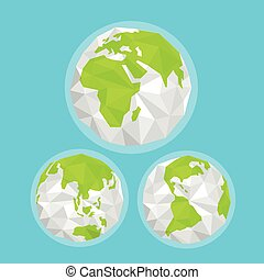 The Earth with abstract World map. Infographic template
