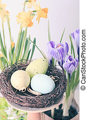 The Easter decorations