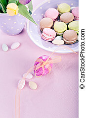 easter installation - the easter installation with macarons