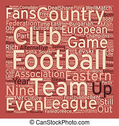 The Eastern League text background wordcloud concept
