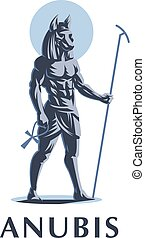 The Egyptian god Anubis. Vector emblem. - The Egyptian god ...