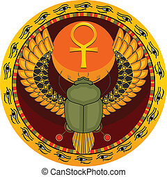 Egyptian sacred bug - The Egyptian sacred bug a scarab a...