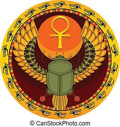 Egyptian sacred bug - The Egyptian sacred bug a scarab a ...